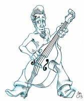 Rockabilly Bass by martianink