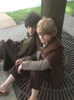 LOTR: frodo and sam cosplay by Iris-Iridescence