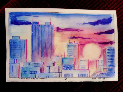 Sailor Moon City Background by MoonlightArt13