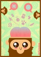 Mind Trick Monkey by BluNiebieski