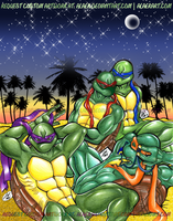 Beach Vacation Model Turtles by alaer