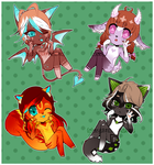 Adoptables Batch [CLOSED] by CrystalSugarStars