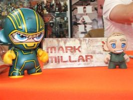 Munny Kick-ass and Millar by KidNotorious