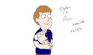 Dylan and his new pet by naniloke