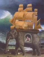 The Lady and the Elephant by hrn