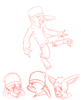 kangaroo OC sketches by Crimson9876