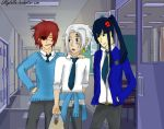 / D.Gray Man / School life - Lavi, Allen and Kanda by Lillylulla