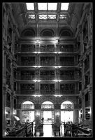 The George Peabody Library II by clarinetJWD