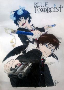 Blue Exorcist by VoX-draw