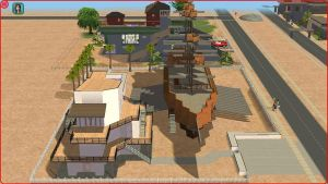 Sims2 Pirate ship, with a modern guest house by RamboRocky