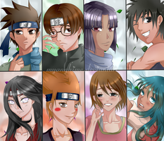 Naruto Couples Headshot by MyangHime