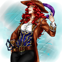 Commission: Pirate Captain Lisa by Evit-Blackflaime