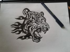 Tiger Tattoo by TheWolfGuidesMe