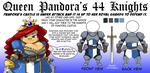 Pandora 44 KNIGHTS LINE UP Ad by ShoNuff44