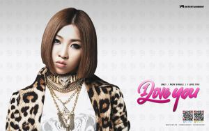 Wallpaper de Minzy by LuannaMaria