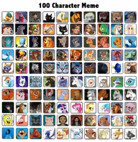 100 Character Meme by Co-beakling1