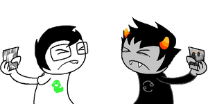 Homestuck: DVD FIGHT by SnapdragonSoda