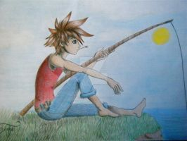 Sora goes fishing by morganwtb11