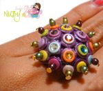 Multicolor Ring by colourful-blossom