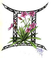 Gemini Flower Tattoo Request by D-Angeline