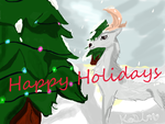 Holiday Deer by simmisimmi