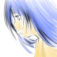 Girl With Blue Hair by Kikirini