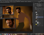 The Wolverine painting WIP by Law67
