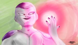 Frieza's pink energy by Piteurock