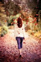 Autumn leaves fall down on me by thesashabell