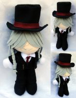 Mini Plushie, Weston Undertaker by LadyoftheSeireitei
