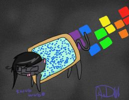 Skrillex/Dubstep Nyan Cat by angie1100