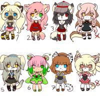 points adoptables set 2 -closed- by Anini-Chu