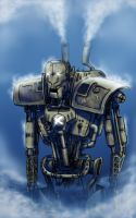 Steampunk mech by woxy