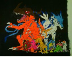 Digimon Painting by Maszeattack
