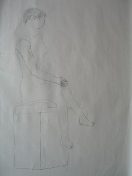 Figure drawing of a young woman 02 by R4VI4TOR