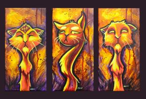 we cats by Abeckin