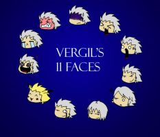 Vergil's 11 faces by AnaNoArt