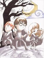 Mini Harry, Ron and Hermione by deianira-fraser