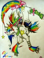 Mulit.Colour.edRainN.bow.Vomit by LaughableNightmares