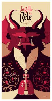 beauty and the beast print by strongstuff