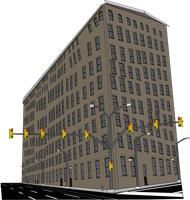 Lilliput apartment building intersection by OceanRailroader