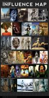Influence Map - Fantasio by fantasio