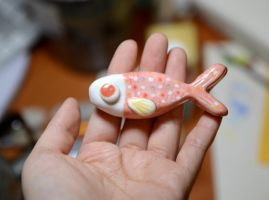 Ceramic fish 2 by pikaole