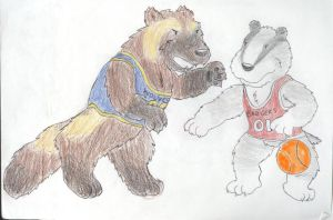 Badgers vs. Wolverines by Traxer
