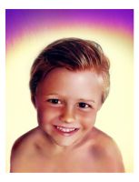 Portrait of little boy by bbqedmarv