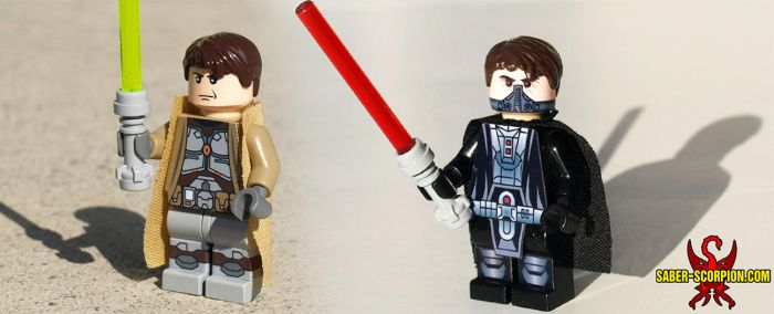 Custom LEGO Minifigs: Light vs. Dark by Saber-Scorpion