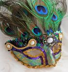 Proud as a Peacock Mardi Gras Mask by DaraGallery