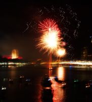 Fireworks over the City - Brisbane II by Squiddgee7734