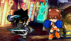 GA2:BBCP Hayate/Shadow VS Makoto by NIGHTMAREZENUKI