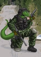 Mack the lizard soldier by SteinWill